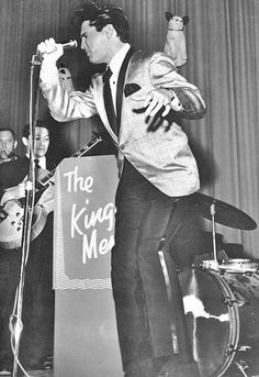 Elvis - February 25, 1961 Memphis, TN - afternoon appearance Charity Event. Afternoon and evening shows together raised $51,612.    Photo Jim Reid