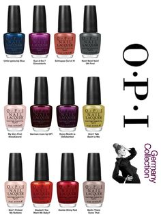 OPI Germany Collection 2012.  Obsession defined.
