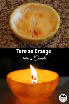 Turn an Orange into a Candle