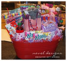 Custom Carnival Gift Basket - #Birthday #GiftBaskets #LasVegas - noveldesignsllc.com