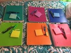"""lady-with-a-book: """"lmaginatio: """" Color-coordinated notebooks are the best. lady-with-a-book: """"lmaginatio: """" Color-coordinated notebooks are the best. """" I never wanted anything in my life as much as I want this *_* """", Middle School Supplies, College School Supplies, College Binder, College Planner, High School Hacks, Life Hacks For School, School Tips, School Stuff, High School Essentials"""