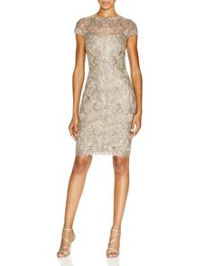 Tadashi Shoji Corded Tulle Lace Sheath Dress | Bloomingdale's