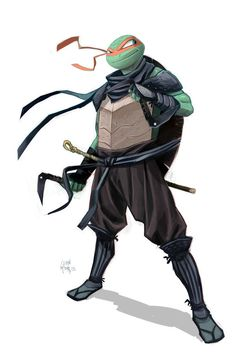 TMNT by Dan Mora, on Behance. Love how they're actually dressed like ninja. Ninja Turtles Art, Teenage Mutant Ninja Turtles, Teenage Turtles, Ninja Armor, Ninja Gear, Samurai Armor, Art Of Dan, Gi Joe, Les Oeuvres