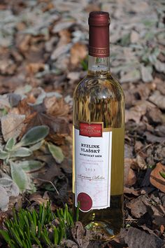 Bílé víno - Ryzlink vlašský Pozdní sběr, botrytický sběr - Vinum Moravicum a.s. Whiskey Bottle, Drinks, Drinking, Beverages, Drink, Beverage