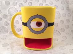 Minion dunk mug by HandPaintedNerd on Etsy