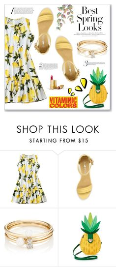 """""""Yellow Outfit!"""" by achernar ❤ liked on Polyvore featuring H&M, Loren Stewart and Betsey Johnson"""