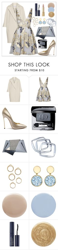 """""""Untitled #507"""" by mayer-fruzsina ❤ liked on Polyvore featuring KaufmanFranco, Notte by Marchesa, Casadei, Christian Dior, Georgina Skalidi, GUESS by Marciano, Oribe, Deborah Lippmann, Estée Lauder and Burberry"""