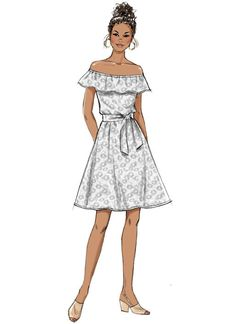 Butterick B6566 Misses'/Misses' Petite Dress, Romper, Jumpsuit And Sash #sewingpattern