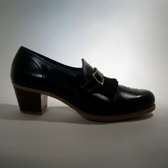 Vintage 1960s Black Loafers