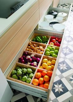 Unique Kitchen Storage Ideas that you can apply in your kitchen - next it c. - Unique Kitchen Storage Ideas that you can apply in your kitchen – next it comes for order in - Kitchen Organization Pantry, Small Kitchen Storage, Kitchen Pantry, New Kitchen, Kitchen Utensils, Kitchen Vegetable Storage, Storage Organization, Kitchen Dubai, Kitchen Racks