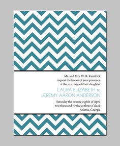 Chevron Print  Modern Wedding Invitations by limeexpressions, $3.00