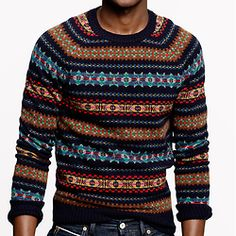 J. Crew has Fair Isle sweaters!! Probably they cost megabuxx. But anyway, British Country Winter ahoy!