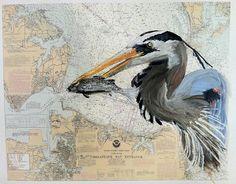 Blue Heron Chesapeake Bay Virginia Nautical Chart by AmandaMcLenon