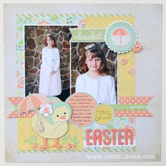 #papercraft #scrapbook #layout #Easter