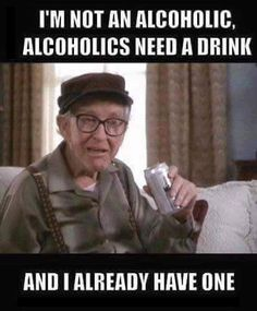 I'm not an alcoholic... Not to make light of the disease but for those you aren't this is fun.
