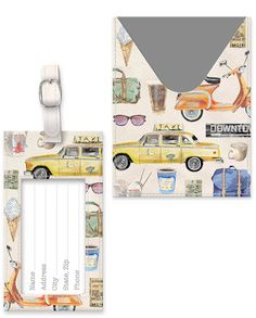 Luggage Tag and Passport Cover by Molly & Rex Passport Cover, Metal Buckles, Travel Accessories, Gallery Wall, Fun, Fin Fun, Travel Essentials, Lol, Funny