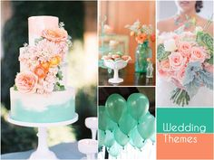The contrast of cool and warm colours in this combination makes it a unique and unmissable pick for a summer wedding! #WeddingThemes