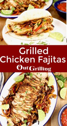 Grilled Chicken Fajitas are the most flavorful and delicious fajitas that you can make. Easy to feed a crowd or to meal prep for busy weeknights. A restaurant favorite that you can make even better in your own backyard. Grilled Chicken Fajitas, Easy Chicken Fajitas, Chicken Fajita Recipe, Chicken Steak, Grilled Steak Recipes, Homemade Barbecue Sauce, Barbecue Recipes, Grilling Recipes, Kabob Recipes