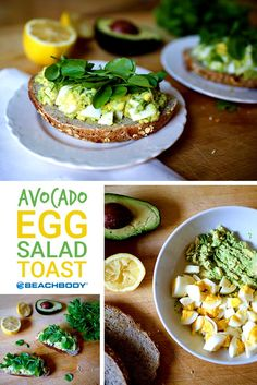 Love egg salad, but want to avoid the not-so-good for you mayonnaise? This is perfect solution. Get the recipe for Avocado Egg Salad Toast here! // Beachbody // BeachbodyBlog.com // healthy recipes // vegetarian // eggs // avocados // breakfasts // lunches // snacks // quick simple meals