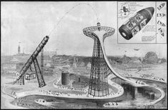 Amusement park rides from the early 20th century weren't exactly known for their safety. But if this terrifying attraction from 1919 had ever been built, it probably would've been the most dangerous ride ever constructed.