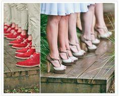 Matching bridesmaids and groomsmen shoes Men's Wedding Shoes, Wedding Blog, Dream Wedding, Wedding Day, Wedding Attire, Bridal Shoes, Wedding Stuff, Groomsmen Shoes, Bridesmaids And Groomsmen