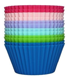 Kitchie Premium Silicone Baking Cups - Set of 12 - Reusable Cupcake Liners - BPA Free - Standard Size - Can Be Used as Muffin, Chocolate, Pu. Diy Cleaning Products, Cleaning Hacks, Silicone Cupcake Liners, Chicago Metallic, Silicone Bakeware, Chocolate Shells, Chocolate Muffins, Chocolate Pudding