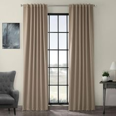 Exclusive Fabrics & Furnishings Formal Taupe Brown Blackout Curtain – 50 in. W x 120 in. Exclusive Fabrics & Furnishings Formal Taupe Brown Blackout Curtain – 50 in. W x 120 in. Rod Pocket Curtains, Grommet Curtains, Drapes Curtains, Curtain Panels, Brown Curtains, Bedroom Curtains, Grey Blackout Curtains, Room Darkening Curtains, Outdoor Lounge Furniture