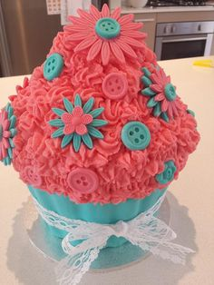 Giant Cupcake made for a naming day