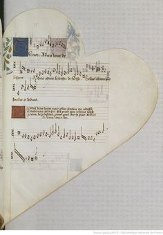 Chansonnier cordiforme de Montchenu. RECUEIL de Chansons italiennes et françaises. | Gallica