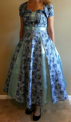 Homemade Dress.  I would have never guessed!