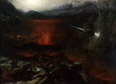 """Francis Danby: """"The Opening of the Sixth Seal"""", Oil on canvas, Dimensions: 185 x 255 cm, Curren t location: National Gallery of Ireland; Moonlight Painting, Biblical Art, Post Apocalypse, Art Archive, Romanticism, Fantasy, Contemporary Paintings, Landscape Art, Oil On Canvas"""