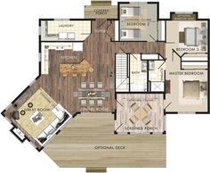 Stillwater Floor Plan- 1600 sq ft