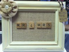 This is an adorable gift idea for married couples but if you want to make it for a friend just change the letters to their name :D