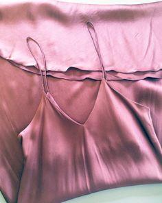 S T Y L E: Vintage 1990s Plum Silk Slip Dress. 90s Minimalist...