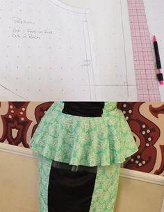 How to Draft a Peplum peplum tutori, craft, peplum sew, sew project, kid peplum, peplumtutori, sew pattern, pattern draft, sewing patterns