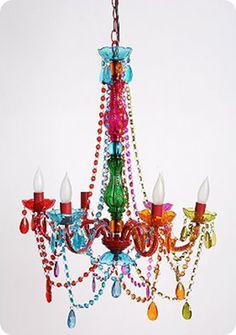 Mardi Gras chandelier