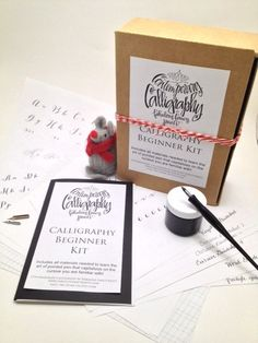 PDF Calligraphy Beginner Instruction Book by FabulousFancyPants, Etsy