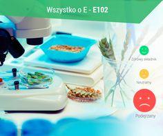 E102 (tartrazyna) - syntetyczny barwnik produkcji laboratoryjnej. Produktom spożywczym nadaje żółty kolor, stosuje się ją do barwienia napoi w proszku, musztardy, galaretek, wyrobów cukierniczych oraz sztucznego miodu. Barwnik stosowany jest również w wyrobach farmaceutycznych. W nadmiernej ilości może powodować stany zapalne skóry, katar sienny, trudności z koncentracją, uczucie swędzenia warg i języka, bezsenność czy dezorientację.  #oseller #zdrowie #wszystkooe #health #jemswiadomie