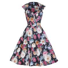 1efcf689e6 Multi Floral Vintage Swing Dress