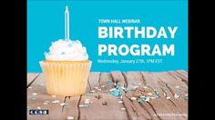 The CORE Training, Town Hall Webinar - How to Structure Your Birthday Program! Learn how to craft, send and manage your birthday program for the best results. Town Hall, It's Your Birthday, Core, Dryers, Washers, Laundry, Training, Sign
