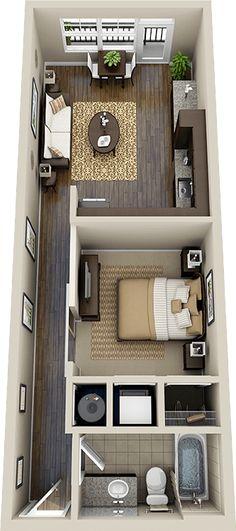 55 Trendy Ideas For House Design Ideas Floor Plans Studio Apartments Studio Apartment Design, Studio Apartments, Apartment Layout, Small Apartments, Apartment Entrance, Apartment Living, Apartment Interior, Apartment Plans, Living Rooms