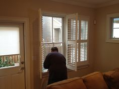 Steve, one of our installers at work.