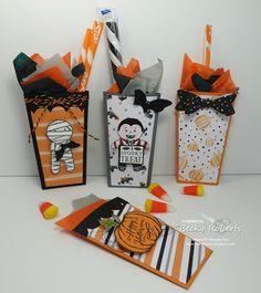 Halloween Popcorn Box Thinlits Pouches