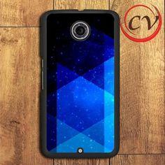 Triangle Pattern Blue Galaxy Nexus 5,Nexus 6,Nexus 7 Case