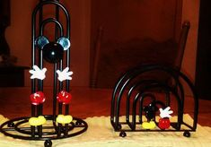 3 piece Mickey Mouse paper towel, napkin holder and matching dish drainer set