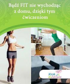 Bądź FIT nie wychodząc z domu, dzięki tym ćwiczeniom  Chcesz poprawić swoją formę, mieć więcej energii i czuć się lżej? z naszym programem treningowym, to proste! Bądź fit bez kosztownego karnetu na siłownię! Bądź Fit, Cardio, Exercises, Health Fitness, Sporty, Women, Exercise Routines, Excercise, Work Outs