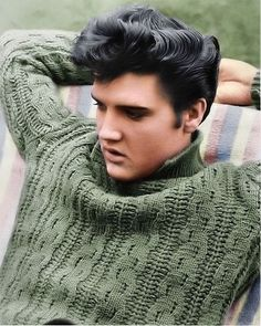 Elvis (Just had to pin it here, wonder who made his sweater tee hee)