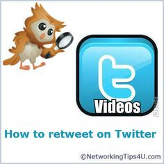 How and why to Retweet on Twitter  http://networkingtips4u.com/video-on-how-to-retweet-on-twitter/#