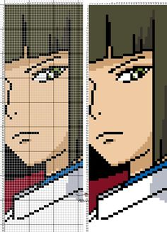 Learn To Draw Manga - Drawing On Demand Beaded Cross Stitch, Cross Stitch Charts, Cross Stitch Designs, Cross Stitch Patterns, Alpha Patterns, Loom Patterns, Embroidery Patterns, Anime Pixel Art, Art Anime
