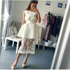 Nice white dress design with lace,homecoming dress vp4816 by VestidosProm, $137.73 USD
